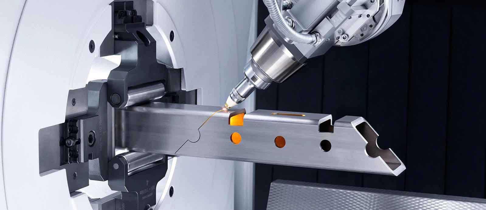 Amostras de corte de metal a laser